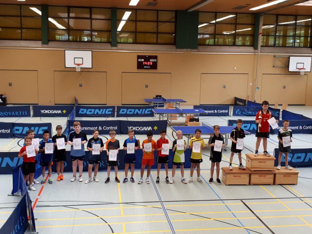 Siegerehrung mit den drei Erstplatzierten Felix Tränkle, Peter Waddicor und Manuel Prohaska. / Bild von Roland Schmitz